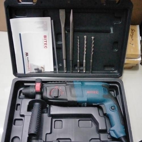Foto Produk Mesin bor BITEC 24mm Beton SDS + HM2-24DRE ceklok drill HM 2-24DRE 24 dari Bangun Teknik