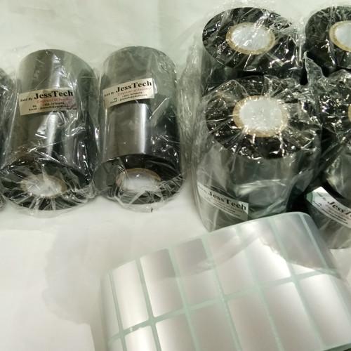 Foto Produk RIBBON BARCODE 11CM X 300M LABEL YUPO/SILVER PAT POSTEK ARGOX TSC dari jesstech barcode bandung
