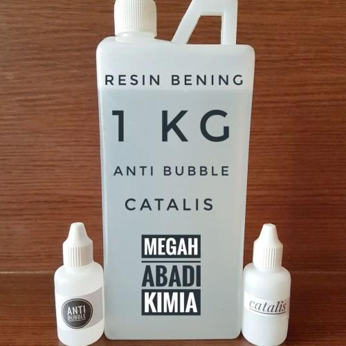 Foto Produk RESIN BENING 1kg + Katalis 35 ML + Anti Bubble 35 ML dari Megah Abadi Chem
