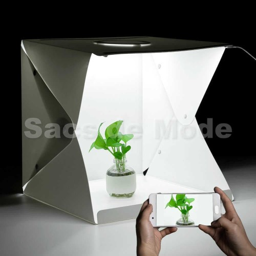 Foto Produk LARGE Photo Studio Box Folding Kotak Tempat Foto Portable with LED dari Sacs de Mode
