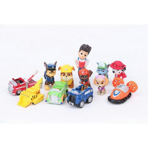 Foto Produk Figure Paw Patrol 1 set lengkap / Topper Cake Paw Patrol dari R&M Toys