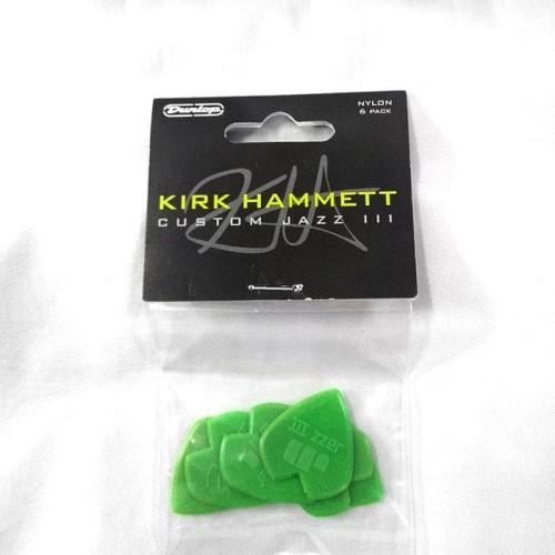 Foto Produk Pick Gitar Dunlop Kirk Hammett Signature Jazz iii isi 6Pcs Ori dari tokogading
