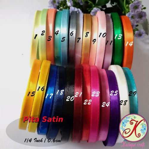Foto Produk Pita Satin 1/4 Inch / 0,6 cm per roll dari Kutique Craft