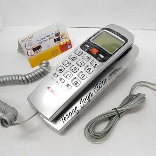 Foto Produk Telepon Kabel Sahitel S37 Pesawat Telepon Rumah Sahitel S-37 (Silver) dari Terang Jaya Store