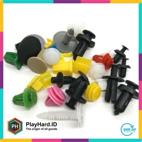 Foto Produk Baut Rivet Mobil Universal 200PCS - Multi-Color dari PlayHardID