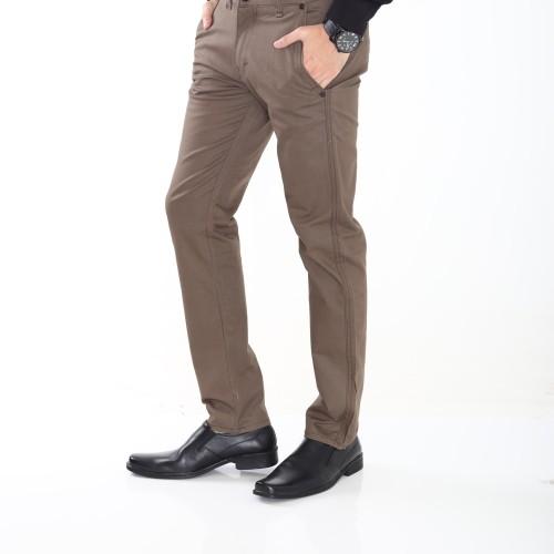 Foto Produk Celana Panjang Cino Pria Polos Celana Laki Celana Pria Celana Kerja - Cokelat Tua, 28 dari ZNB Official