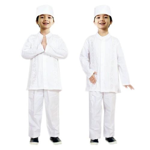 Foto Produk Baju Koko Putih Anak Fayrany FKP-005A usia 12 - 14 tahun dari AlaiaStore