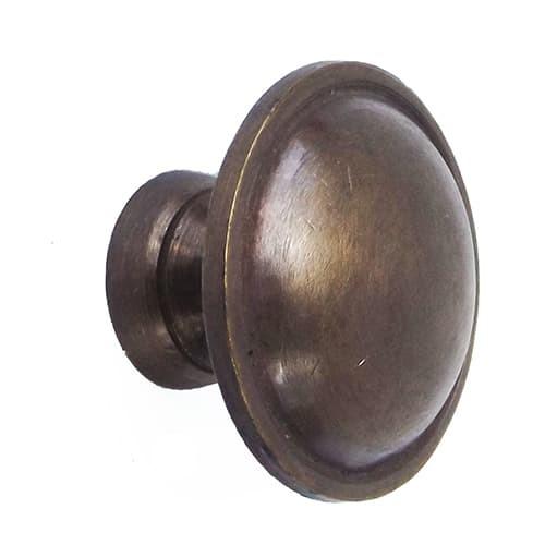 "Foto Produk 1-1/8"" Brass Knob / Tarikan Laci Kuningan - HKN1036 -Flat Rounded Knob dari Heritage Brass"