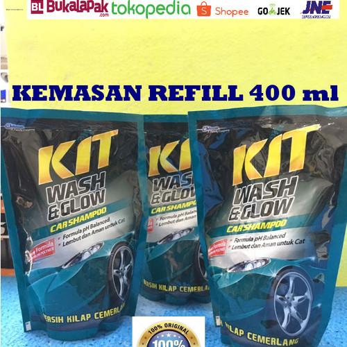 Foto Produk KIT Wash N Glow Car Shampoo Sampo mobil hasil kilat kemasan 400ml dari CAKRA DEWA