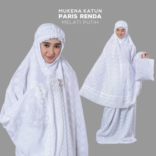 Foto Produk MUKENA KATUN PARIS RENDA MELATI PUTIH dari Pusat Mukena Indonesia