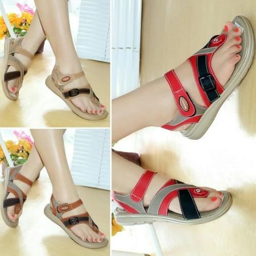 Foto Produk Sepatu Sandal Wanita Platform Jepit Mulan 1682 dari DETECTOR