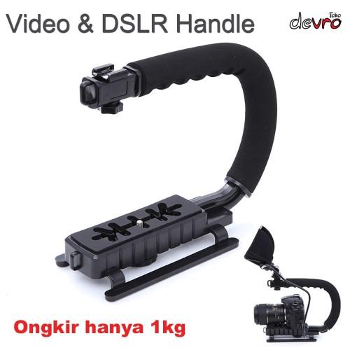 Foto Produk Kamera Stabilizer Grip Video Handle C Shape for DSLR GoPro Xiaomi Yi dari Devro