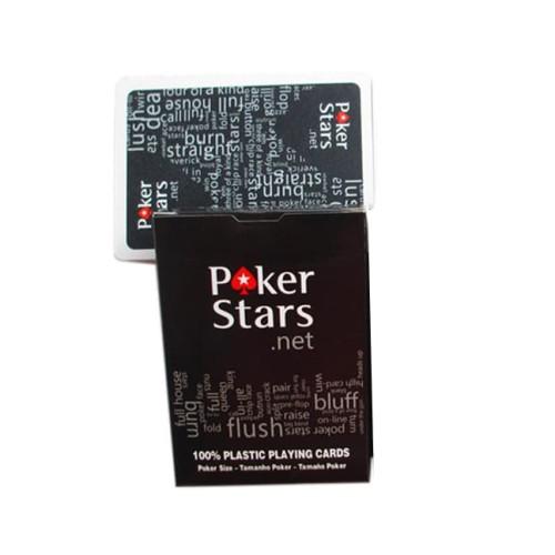 Foto Produk Kartu Remi Poker Plastik - Black dari web komputindo