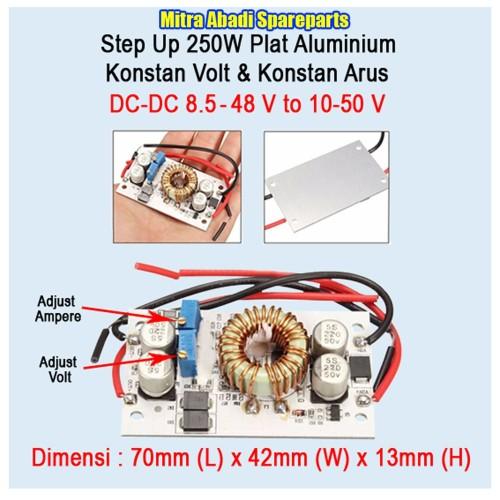 Foto Produk Driver DC-DC Converter Step Up 8.5-48V to 10-50V 10A 250W/250 Watt dari Mitra Abadi Spareparts