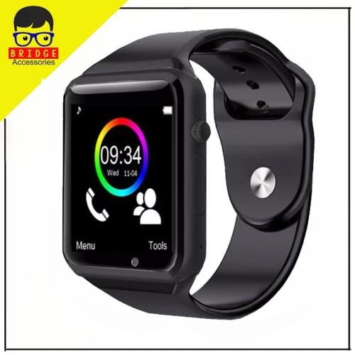 Foto Produk Smartwatch A1 / Smart watch U10 Support Sim Card & Memory Card - Murah - Hitam dari Bridgeacc