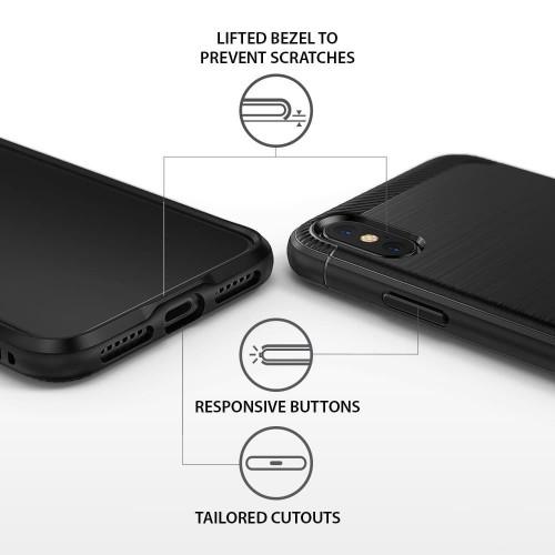 Foto Produk CASING RINGKE ONYX IPHONE X HARDCASE IPHONE X REARTH RINGKE ONYX BLACK - Hitam dari Dukun Gadget Acc