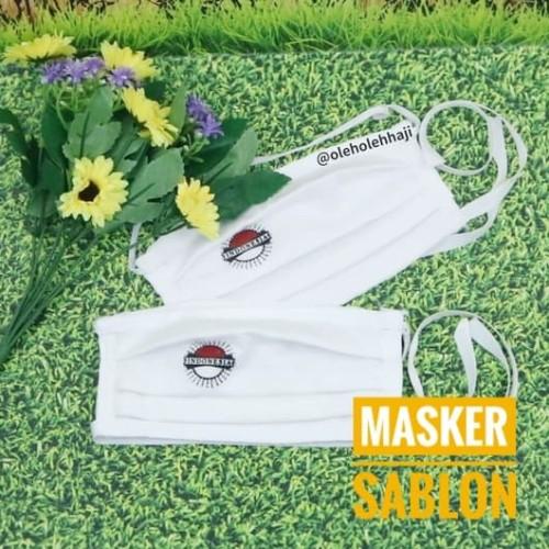 Foto Produk Masker Kain Sablon Anti Debu Putih Polos Perlengkapan Haji dan Umroh dari Nabawi Jakarta