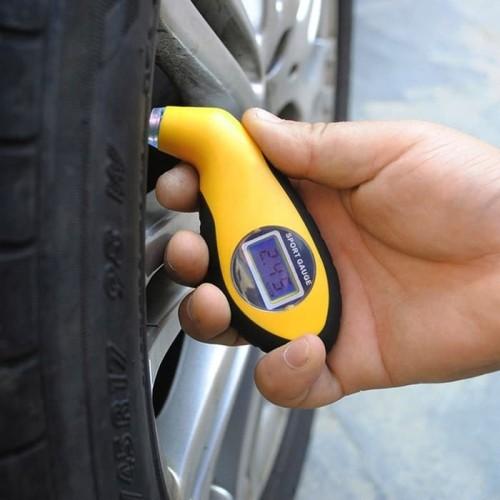 Foto Produk Manometer Alat Pengukur Tekanan Ban Mobil Digital LCD Barometers - TEKANAN dari I-Tech Accessories HP