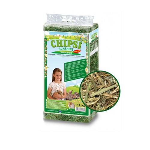Foto Produk Chipsi Sunshine Meadow Hay 1kg Rumput Kelinci Marmut Chinchilla - EXP 2022-11 dari Hime petshop