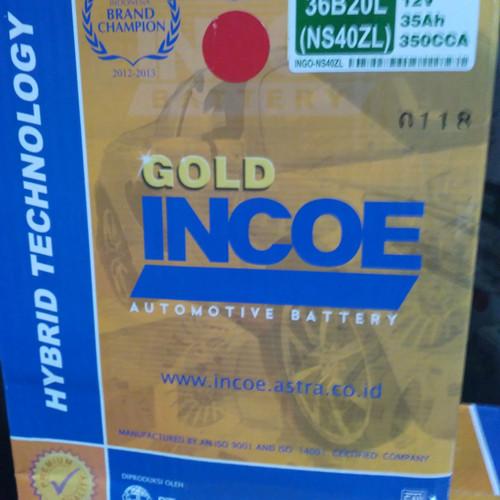 Foto Produk aki mobil agya /ayla merk incoe gold type NS40ZL khusus go send dari Eka Jaya otista