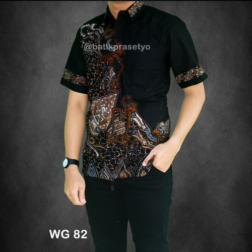 Foto Produk kemeja batik pria modern.wg coklat dari batik kwaly cokro