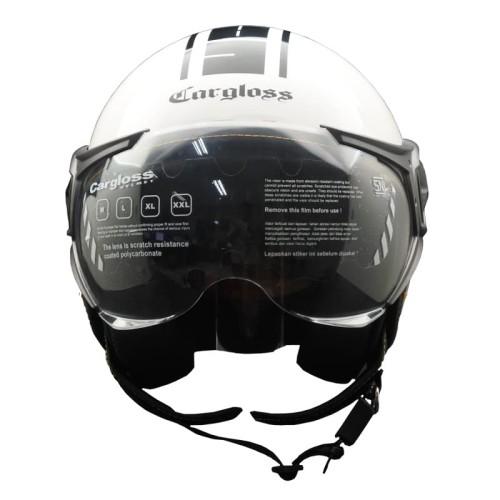 Foto Produk Cargloss YR Protect Helm Half Face - Sp. Whity White - Putih, L dari Helm Cargloss
