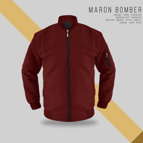 Foto Produk JAKET BOMBER MARON TASLAN - SIZE S dari bosku.apparel