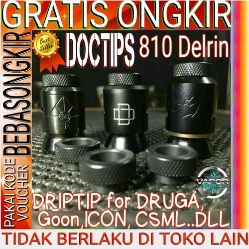 Foto Produk Best Driptip Doctips Delrin Widebore Druga Goon 24 drip tip Doctip 810 dari Juragan Tengil