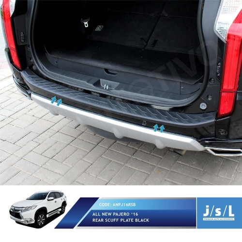 Foto Produk All New Pajero Sport Sillplate Belakang Hitam / Rear Scuff Plate Black dari Autotivo