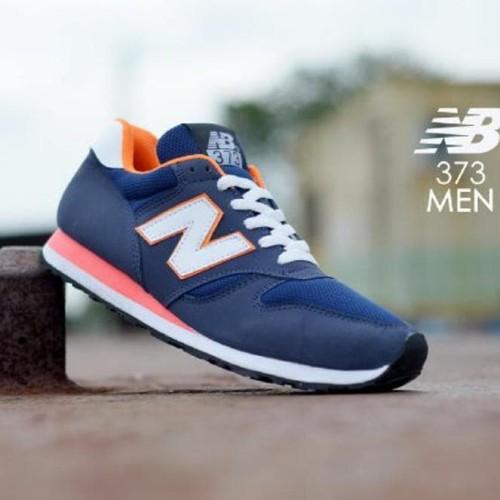 New Balance 373 Navy Orange Super