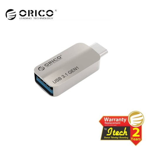 Foto Produk ORICO CTA2 Type-C to USB-A OTG Adapter - silver dari ORICO INDONESIA