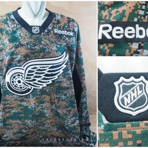Foto Produk Jersey Hockey NHL Red Wings Camo Original Big Size dari Serba Original