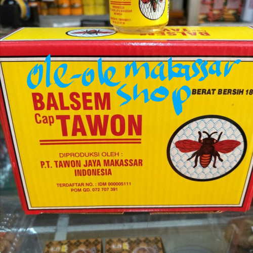 Foto Produk balsem cap tawon 18 gram per lusin / dus dari ole ole makassar