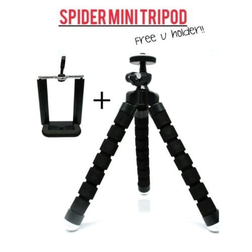 Foto Produk Tripod Mini Spider Holder U Medium Tripod Hp action cam gorilla pod - Hitam dari cameraindo