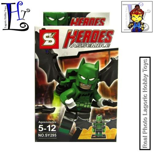 Foto Produk Lego Bloks DC Heroes Assemble SY295 Batman Green Super Upgrade dari Lagoric Hobby Toys