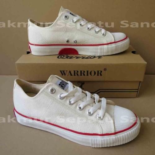 Foto Produk Sepatu Sekolah - Warrior Classic LC - Putih - 43 dari Makmur Sepatu Sandal