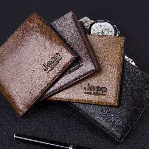 Foto Produk W02 Jeep Short Wallet / Dompet Pria - Brown dari EnnWen Online Store