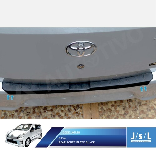 Foto Produk Sillplate Belakang Hitam JSL Mobil / Rear Scuff Plate Black Agya dari Autotivo