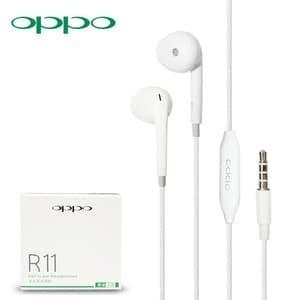 Foto Produk Headset Handsfree Earphone HF OPPO R11 ORIGINAL 99 % Good Quality dari KortingStore