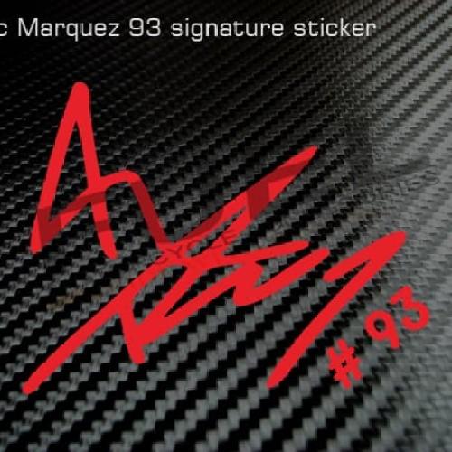 Foto Produk Sticker/Stiker Marc Marquez Signature (tanda tangan) - MM 93 dari Fuel