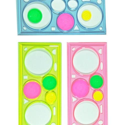 Foto Produk Penggaris gambar pola bunga batik - pattern ruller - code 858 dari Toys Festival
