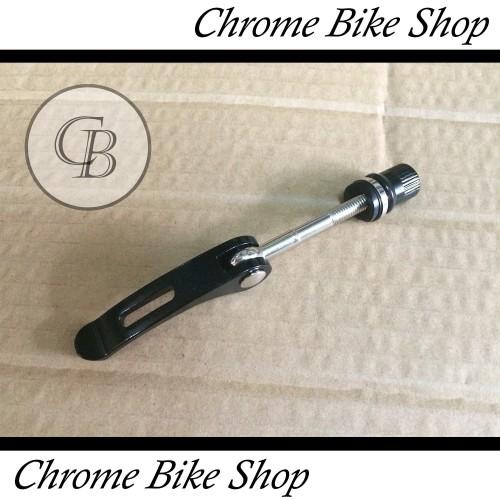 Foto Produk Quick Release Treker Pengunci Sadel Sepeda Alloy Warna Hitam dari Chrome Bike Shop