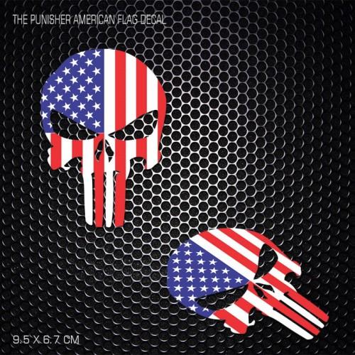 Foto Produk Sticker The Punisher American Flag untuk helm motor KYT INK ARAI CBR dari Fuel