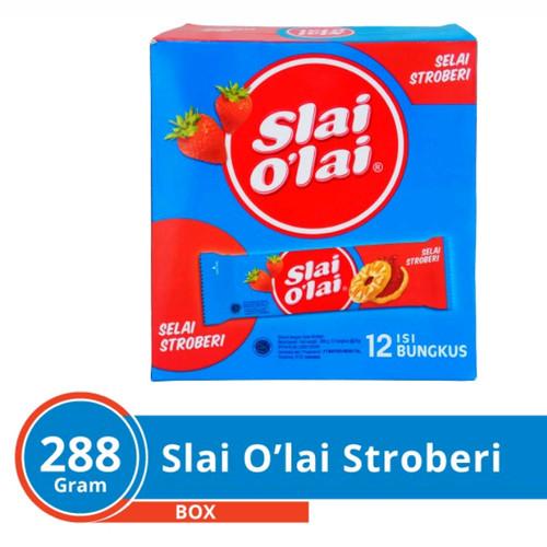 Foto Produk Slai Olai Stwaberry 1box12psc*24 G dari toko dua putra