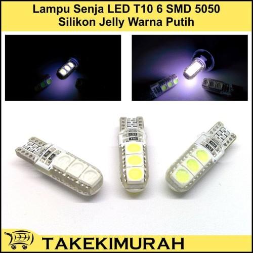 Foto Produk Lampu Senja LED T10 6 SMD 5050 Silikon Jelly Warna Putih dari Takekimurah