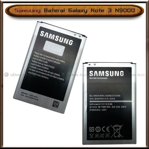 Foto Produk Baterai Samsung Galaxy Note 3 N9000 Original Batre Batrai HP dari oBos Acc