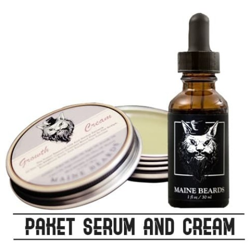Foto Produk Paket Maine Beards Serum Minoxidil dan cream Penumbuh Brewok dari Maine Beards