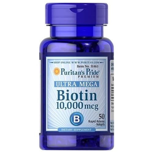 Foto Produk Puritan Biotin Ultra 10.000 MCG isi 50 tablet dari Maine Beards