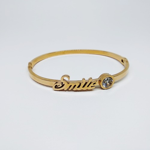 Foto Produk Gelang Emas mirip Yaxiya Wanita Smile Titanium Diamond / Bangle / Cuff dari All the Things I Need