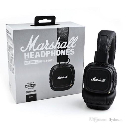 Foto Produk Marshall Major II Bluetooth Headphone (BONUS POUCH) - BLACK dari Electro Claus